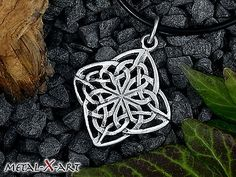 Keltischer Knoten, Kelten, Ketten-Anhänger, matt o. poliert, Sterling Silber 925