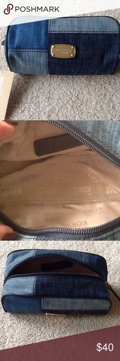 NWT Michael Kors Travel Pouch. NON SMOKING HOME Blue, patchwork Michael Kors Travel Pouch. 71/2 in. length, 3 1/2 wide. Michael Kors Bags Travel Bags