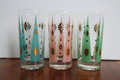 Vintage Fred Press Atomic Design Glasses by ... | vintage kitchen