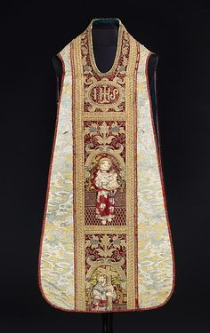 Vestment (Chasuble)  Date: 16th century Culture: Italian Medium: silk, metal, linen