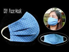 (161) New Design - DIY Breathable Mask | The mask does not touch your mouth and nose, easier to breathe - YouTube Small Sewing Projects, Sewing Hacks, Sewing Tutorials, Sewing Crafts, Sewing Patterns, Diy Crafts, Easy Face Masks, Diy Face Mask, Dresden Plate Patterns