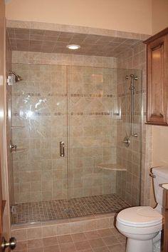 no tub, just shower, upstairs