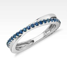 Sapphire Infinity Eternity Ring in 14k White Gold | Blue Nile