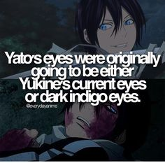 For real?? Oh, so glad they changed it. Yato's bright blue eyes are amazing!