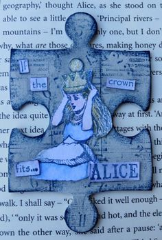 If The Crown Fits… An Altered Jigsaw Piece by Mandy C   That's Blogging Crafty!