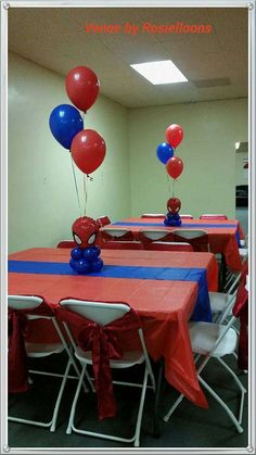 Rosielloons's Birthday / Spiderman - Photo Gallery at Catch My Party Spiderman Theme Party, Spiderman Birthday Cake, Avengers Birthday, Superhero Birthday Party, 4th Birthday Parties, 5th Birthday, Birthday Ideas, Birthday Party Decorations Diy, Man Party