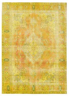 Golden Tabriz vintage carpet produced and sold by vintagecarpets.com