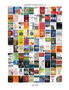 MORE BOOKS TO CHANGE YOUR LIFE -- 15 Page 1 of 10