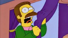 FunSubstance - Funny pics, memes and trending stories Funny Moving Pictures, Simpsons Frases, Ned Flanders, Memes Funny Faces, Gifs, Spanish Memes, Meme Template, Gif Animé, Cartoon Tv