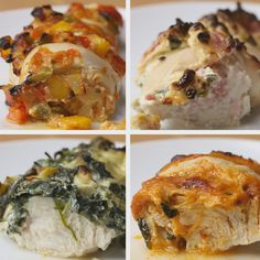Hasselback Chicken 4 Ways