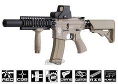 Airsoft GI Desert G4-A2 Silent Death Blowback Version AEG Airsoft Gun ( Tan / Custom )