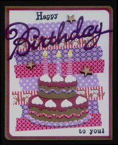 (EK) Happy Birthday!! Washi Tape en MD!!