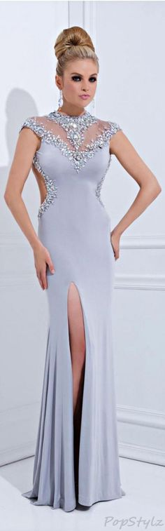 Tony Bowls Glamorous Gown gray jaglady