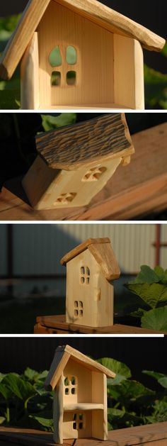 Pine and oak Gnome House, Wooden Dollhouse, Kiefer, Wood Creations, Whittling, Fairy Dolls, Wood Toys, Wood Turning, Projects To Try