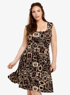 Penny Dreadful Frame Print Skater Dress