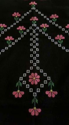 This Pin was discovered by şen Sashiko Embroidery, Folk Embroidery, Cross Stitch Embroidery, Cross Stitch Borders, Cross Stitch Patterns, Palestinian Embroidery, Free To Use Images, Prayer Rug, Beading Projects