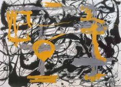 Jackson Pollock, Number 12A, 1948: Yellow, Gray, Black Fine Art Reproduction Oil Painting
