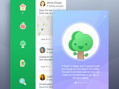 Hi folks! Our days here are cold enough now, so I'd like to bring something warm and cute into your feed.   Here's the Veggie App concept for those in love with nature and eco lifestyle. This socia...