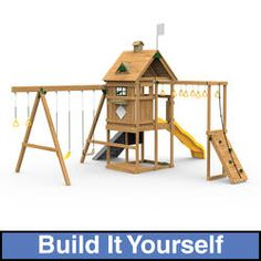 Accessories adventure and swing set accessories on pinterest for Build it yourself swing set