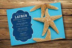Starfish Beach Themed Bridal Shower or Engagement by socalcrafty, $15.00