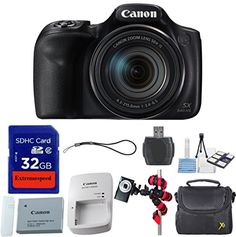 Introducing Canon PowerShot SX540 HS with 50x Optical Zoom and BuiltIn WiFi  Accessory Bundle  International Version No Warranty. Great Product and follow us to get more updates!