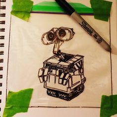 Working on todays sandwich bag. #sandwichbagartist #sandwichbagart #lunch #kids #lunchtime #lunchbreak #sharpie #ziploc #art #artofinstagram #draw #drawing #drawingsofinstagram #illustrator #illustration #myart #myartwork #creative #artnerd #art_community #artist_sharing  #winnipegartist #winnipegart #showyourwork #winnipeg #pixar #fanart #wallet #walle #robot