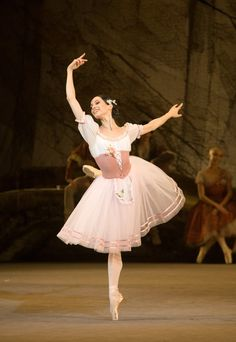 Diana Vishneva as Giselle in Act 1 of the Mariinsky Ballet's Giselle. Photo by M. Logvinov