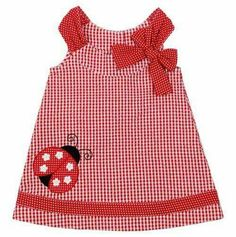 For my friend Becky - Ladybug Gingham Sundress (Sariah w/black leggings and a black tee underneath? Toddler Dress, Toddler Outfits, Baby Dress, Toddler Girl, Kids Outfits, Little Girl Outfits, Little Girl Dresses, Baby Girl Fashion, Kids Fashion