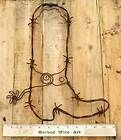Cowboy Boot ~ Metal Folk Ranch Wall Decor Farm Horse Country Barbed Wire Art