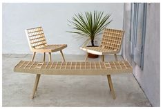 Benno Simma - Rib Furniture - Bench and Chairs (1997)