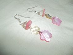 Beautiful Dangling Pink Shell Flower Charm by GrammyKayesCreations