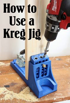 Just used pocket screws ... without a kreg jig. Would have been soooooo much easier with one. Going to have to rectify that! How_to_use_a_kreg_jig