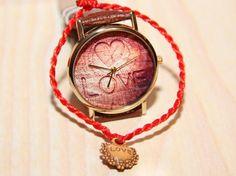 Wristwatch heart wooden watch watches for a by RedMadagaskar