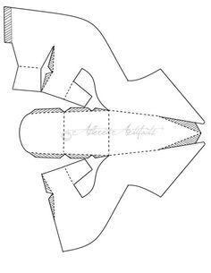 3D high heel cut out template.