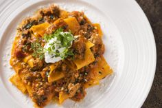 Silky Italian Egg Pappardelle served with a Spanish Pork Ragout and a Herb Mascarpone  *** Michelin-star chef, Harlan Goldstein (Harlan G), and the amazing food at his fourth restaurant - Penthouse by Harlan Goldstein