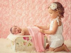 newborn pic: this might be a better option for a younger big brother