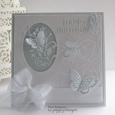 by the Poppystamps Design Team Darice butterfly embossing folder idea