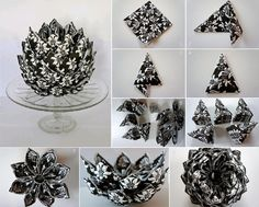 How to make an artichoke out of a napkin diy diy crafts do it yourself diy projects artichoke napkin crafts Box Origami, Diy And Crafts, Paper Crafts, Embroidered Towels, Parchment Craft, Napkin Folding, Decoration Table, Paper Flowers, Gift Tags