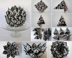 DIY Napkin Artichoke Decoration  https://www.facebook.com/icreativeideas