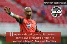 Mauricio Morales. Ex silbante internacional.