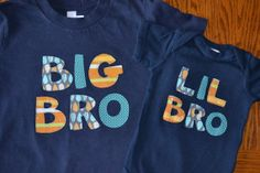 Big Brother/ Little Brother Sibling Shirts