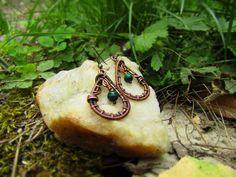 Náušnice z patinovaného měděného drátu Gemstone Rings, Gemstones, Jewelry, Fashion, Moda, Jewlery, Gems, Bijoux, La Mode