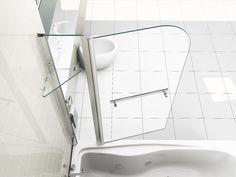 Glass Over Bath Shower Door Panel Folding Screen 1400 & Seal
