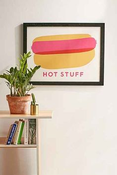 The Indigo Bunting Hot Stuff Art Print - Urban Outfitters