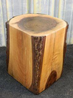 Organic/Geometric contrast ~ Rustic Room Art Walnut End Table Stump Stool Rustic Wood Furniture 10217 Rustic Wood Crafts, Rustic Wood Furniture, Tree Furniture, Wood Stumps, Tree Stumps, Rustic Room, Wood Stool, Wood Creations, Diy Wood Projects
