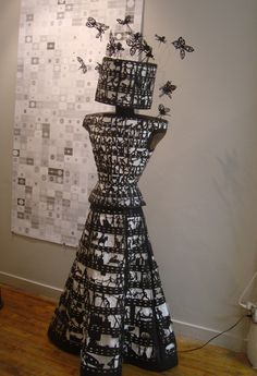 Cinedress & head turner: to see and to be seen #paper dress #center for book arts exhibition #drones
