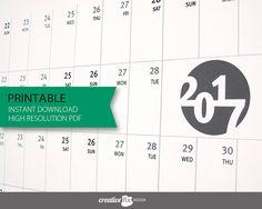 2017 large ☆ printable calendar ☆