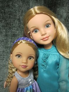Lauryce (from Hearts for Hearts dolls) and BFC Kaitlin by beastsbelle, via Flickr   (Big and Little Sister dolls...putting together dolls from two different series.)