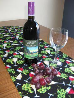 Chalk Cloth Table Runner // Wine Table Runner by LindasOtherLife, $30.00