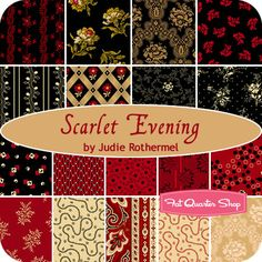 Scarlet Evening Yardage Judie Rothermel for Marcus Brothers Fabrics - Fat Quarter Shop